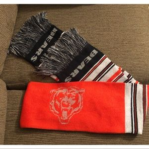 Chicago Bears Glitter Striped Scarf